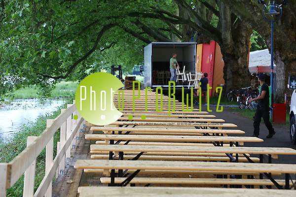 Ludwigshafen. 14.06.16 Parkinsel. 12. Festival des deutschen Films. Feature. Aufbauarbeiten. Bild: Markus Proßwitz 14JUN16 / masterpress (Markus Prosswitz / masterpress)