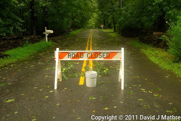 Road Closed. Hurricane Irene. Image taken with a Leica X1 camera. (David J Mathre)