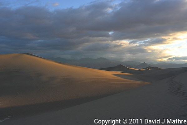 Sand Dune Morning Shadows, Death Valley NP. Image taken by Michael Mariant with my Leica X1 (ISO 100, 24 mm, f/10, 1/60 sec). Out of the Camera jpg. (David J Mathre)