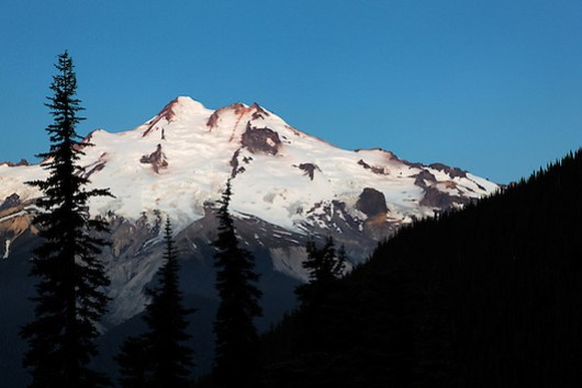 East face of Glacier Peak viewed from Buck Creek Pass, Cascade Mountains, Snohomish County, Washington (Copyright Brad Mitchell Photography.9601 Wall St.Snohomish, WA 98296.USA.425-418-7279.brad@bradmitchellphoto.com)