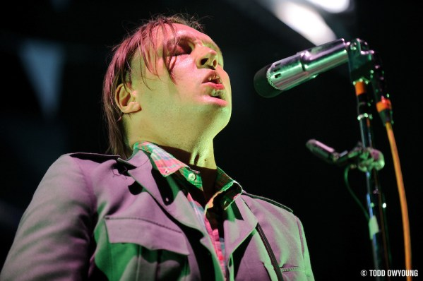 Photos of the Grammy award-winning band the Arcade Fire performing on their 2011 tour for The Suburbs at the Scottrade Center in St. Louis on April 21, 2011. (Todd Owyoung)