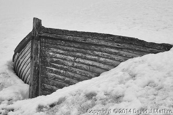 Old Wooden Boat Stuck in the Snow on Half Moon Island in the South Shetland Islands (North of the Antarctic Peninsula). Image taken with a Leica T camera and 18-56 mm lens (ISO 100, 56 mm, f/16, 1/100 sec). Raw image processed with Capture One Pro 8, Focus Magic, and Photoshop CC 2014 (David J Mathre)