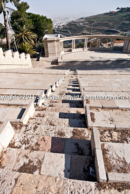 The Rothberg Amphitheater on the Mount Scopus campus of the Hebrew University of Jerusalem. (Jonathan Gewirtz)