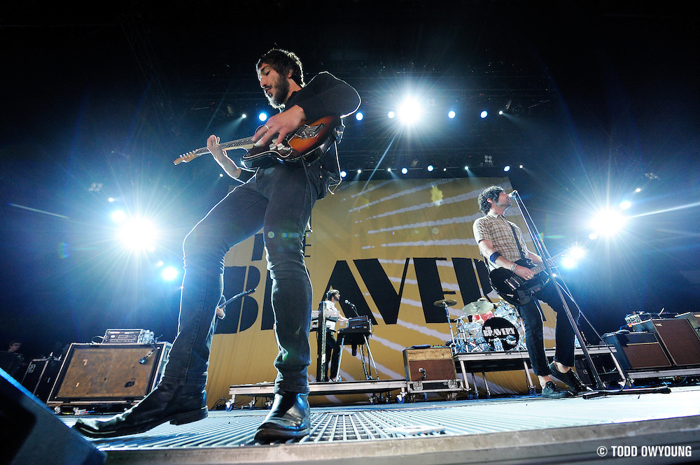The Bravery performing on the Projekt Revolution Tour. St. Louis, August 21, 2008. © Todd Owyoung/Retna Ltd. (Todd Owyoung/© Todd Owyoung)