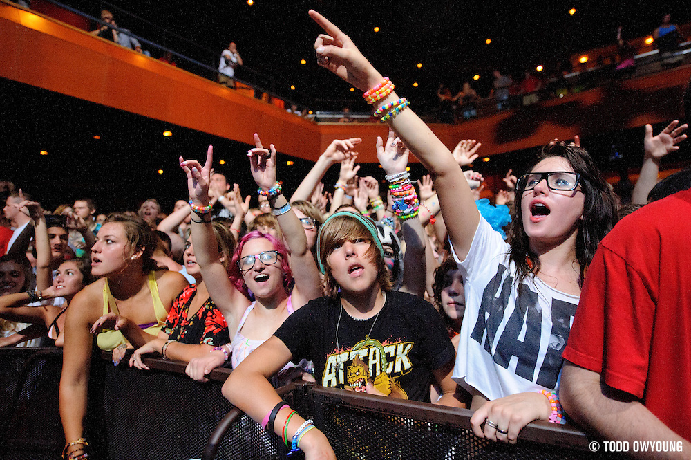Skrillex performing at the Pageant in St. Louis, Missouri on July 12, 2011. © Todd Owyoung. (Todd Owyoung)