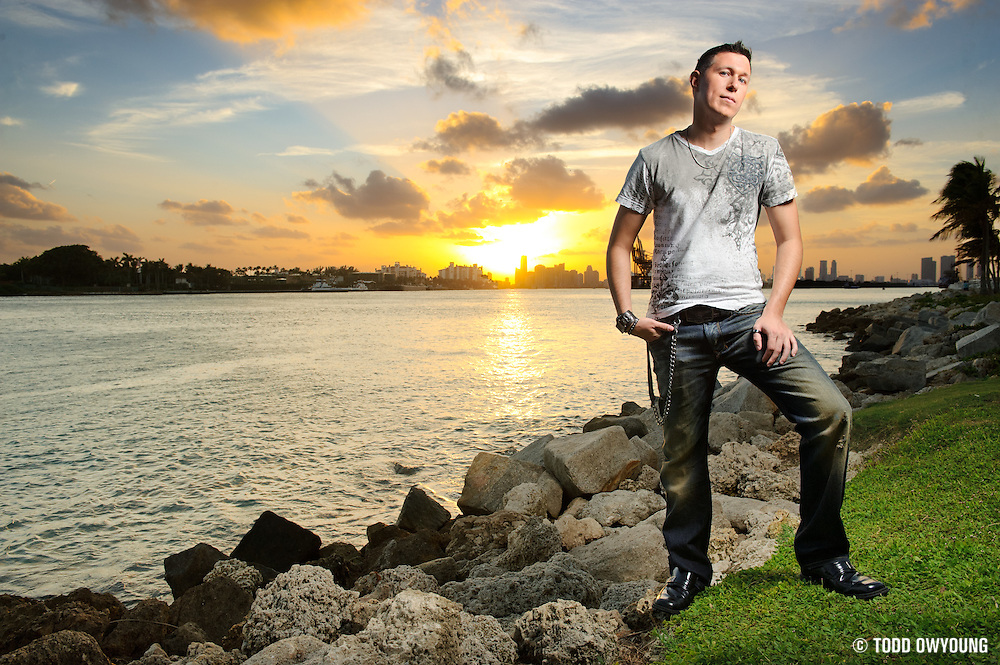 Photos of electronic music producer Justin Waters photographed in Miami, Florida on March 3, 2011 by music photographer Todd Owyoung. (Todd Owyoung)