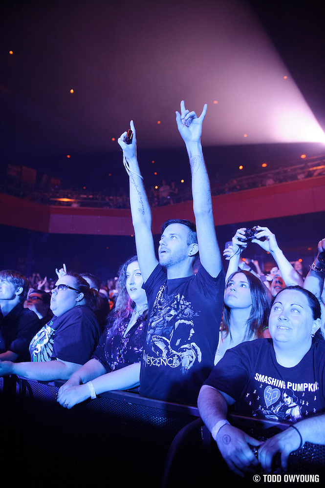 Fans during Evanescence's sold out performance at the Pageant in St. Louis on April 25, 2012. (Todd Owyoung)