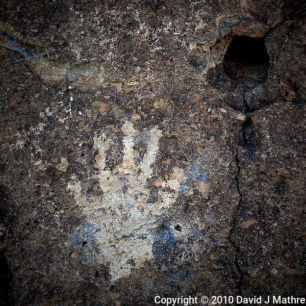 The Hand. Red Canyon Petroglyphs. Image taken with a Nikon D3s and 24 mm f/1.4G lens (ISO 200, 24 mm, f/5.6, 1/80 sec). Raw image processed using Capture One Pro 6 and Photoshop CS5 (David J Mathre)