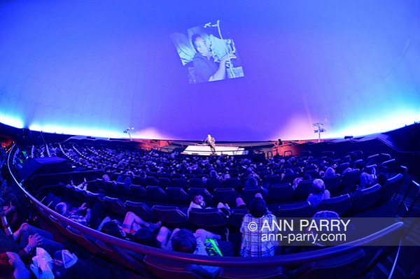 Garden City, NY, USA. June 21, 2018. Space Shuttle Astronaut Mike Massimino, a Long Island native, gives free lecture in JetBlue Sky Theater Planetarium at the Cradle of Aviation Museum. (© 2018 Ann Parry/Ann-Parry.com)