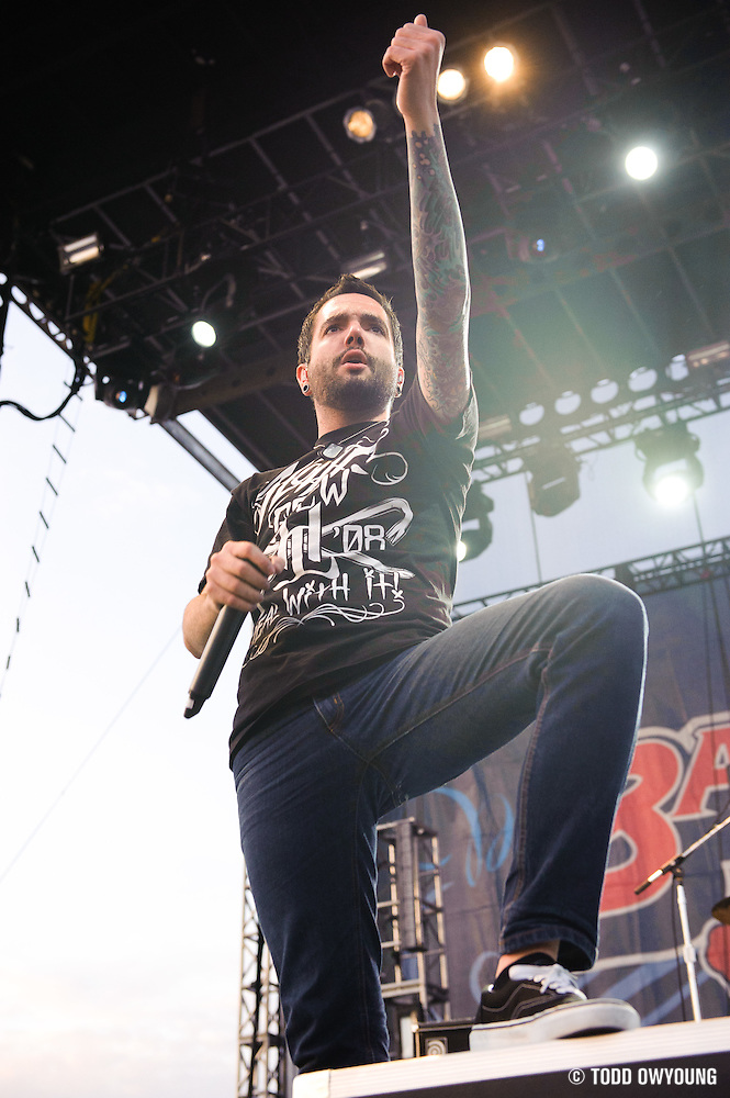 A Day To Remember performs at the Bamboozle Music Festival. Meadowlands Sports Complex, East Rutherford, NJ.  April 30, 2011. Copyright © 2011 Todd Owyoung. (Todd Owyoung)