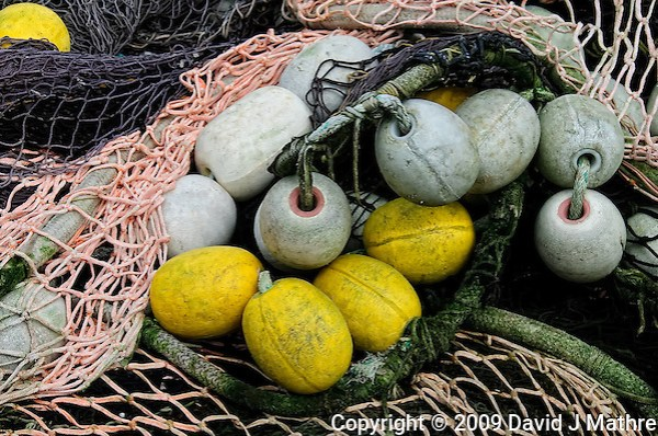 Fishing Net and Floats in Wrangell Alaska. Image taken with a Nikon D300 camera. (David J. Mathre)