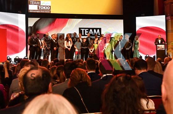 Das Team Tokio auf der Bühne beim Sport Award in Heidelberg 2018. Foto © Ruffler *** Foto ist honorarpflichtig! *** Auf Anfrage in hoeherer Qualitaet/Aufloesung. Belegexemplar erbeten. Veroeffentlichung ausschliesslich fuer journalistisch-publizistische Zwecke. For editorial use only. (Michael Ruffler)