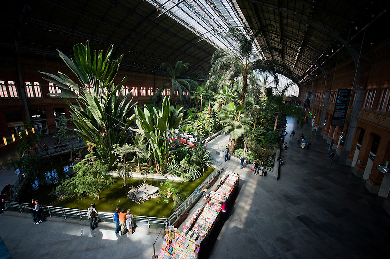 Atocha Station in Madrid, Spain. It has a huge jungle inside. (Pete Carr)