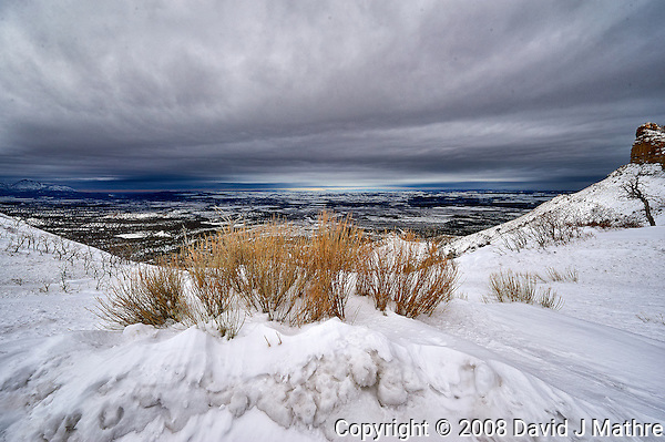Winter panorama in Colorado from Mesa Verde National Park. Image taken with a Nikon D3 camera and 14-24 mm f/2.8 lens (ISO 200, 14 mm, f/11, 1/1250 sec). (David J Mathre)