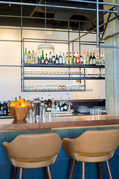 Interior photography of the bar and restaurant at Press Room Cafe in Bentonville, Arkansas. Photo by Beth Hall (Beth Hall)
