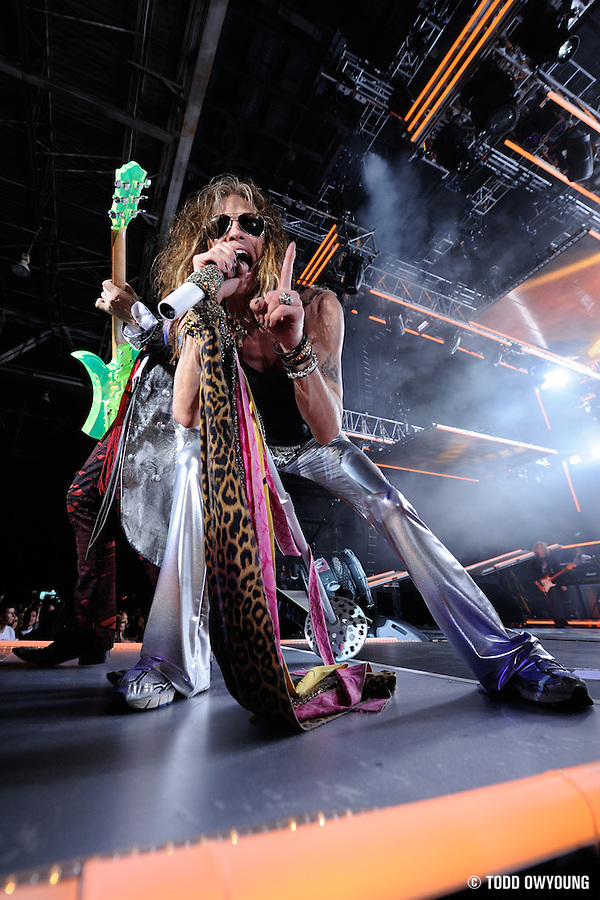 Photos of Aerosmith performing at Verizon Wireless Amphitheater on their tour opener. June 11, 2009. © Todd Owyoung. (Todd Owyoung)