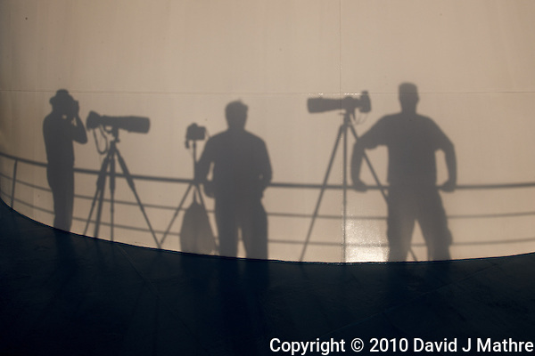 Shadow Photographers Waiting for Sunset on the M/V Explorer. Image taken with a Nikon D3x and 24 mm f/1.4G lens (ISO 100, 24 mm, f/16, 1/100 sec). (David J Mathre)