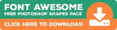Download Font Awesome Photoshop Custom Shape Pack - photoshopbuzz.com