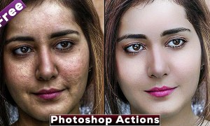 Best Skin Retouching Photoshop Actions   Download Free Photoshop Actions