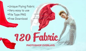 Best 120 Flying Fabric Overlays Free Download - Free Photoshop Overlays