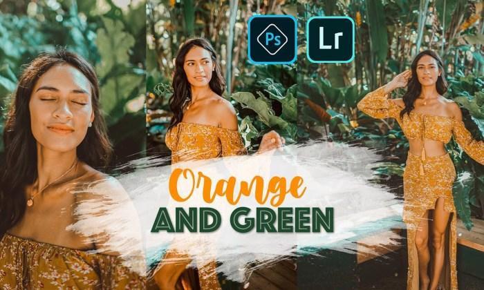 ORANGE and GREEN Preset for Photoshop Lightroom