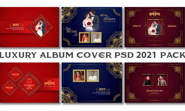 Luxury Wedding Album Cover PSD 2021 VOL 1