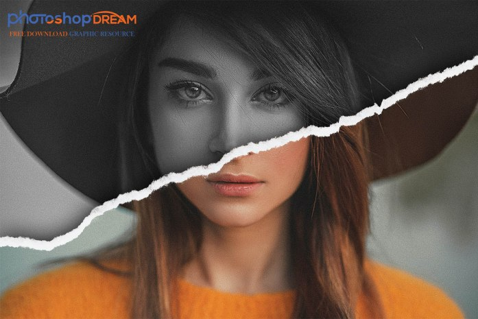 torn paper edges photo effect free download