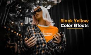 Black Yellow Color Tone Photoshop Preset Free Download