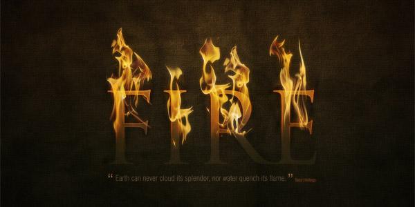 Fire text effect
