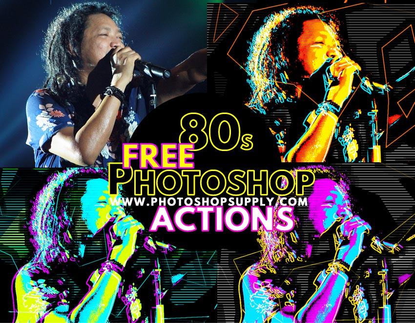 80s Neon Retro Futuristic Background Poster in Photoshop