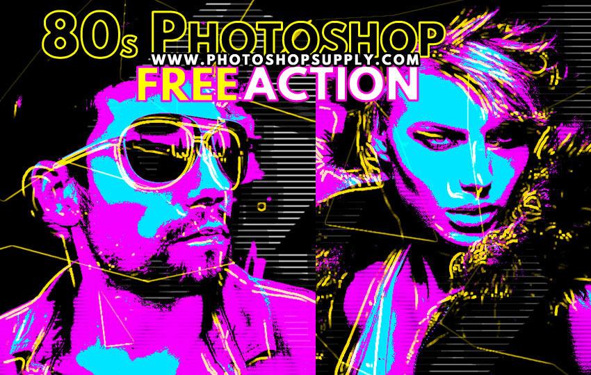 Vintage Retro Style Poster Photoshop Action
