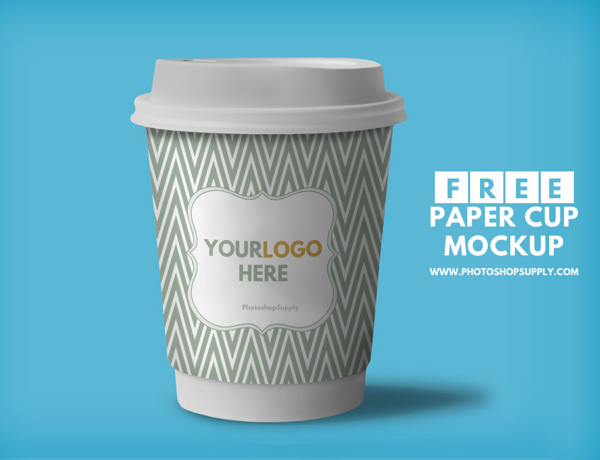 Free Paper Cup Mockup Photoshop Supply