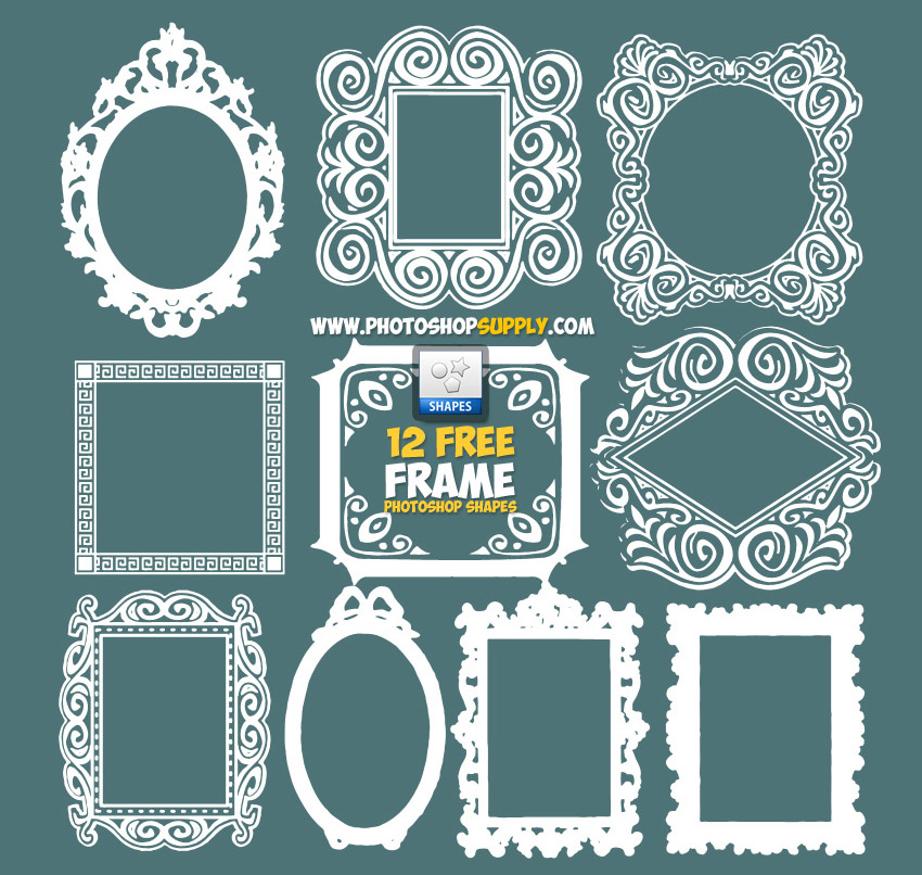 Photoshop Frame Shapes Free Download - Photoshop Supply