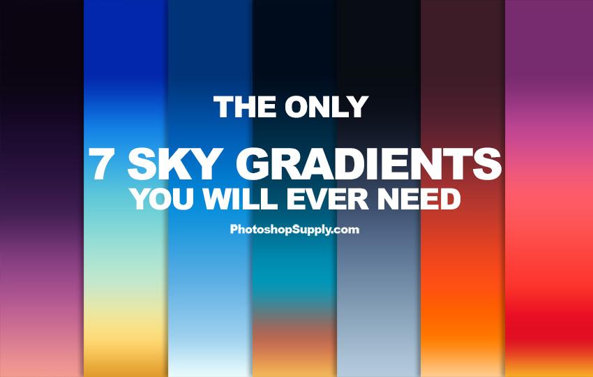 7 free sky gradients