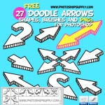 Doodle Arrow Photoshop Brushes Shapes and PNG