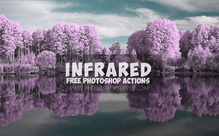 Infrared effect photoshop action free