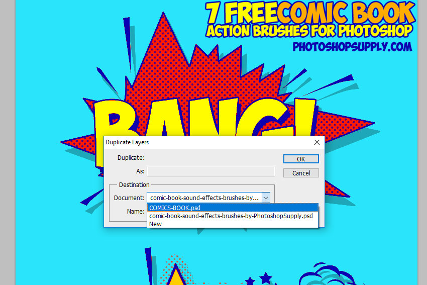 comics book elements Photoshop