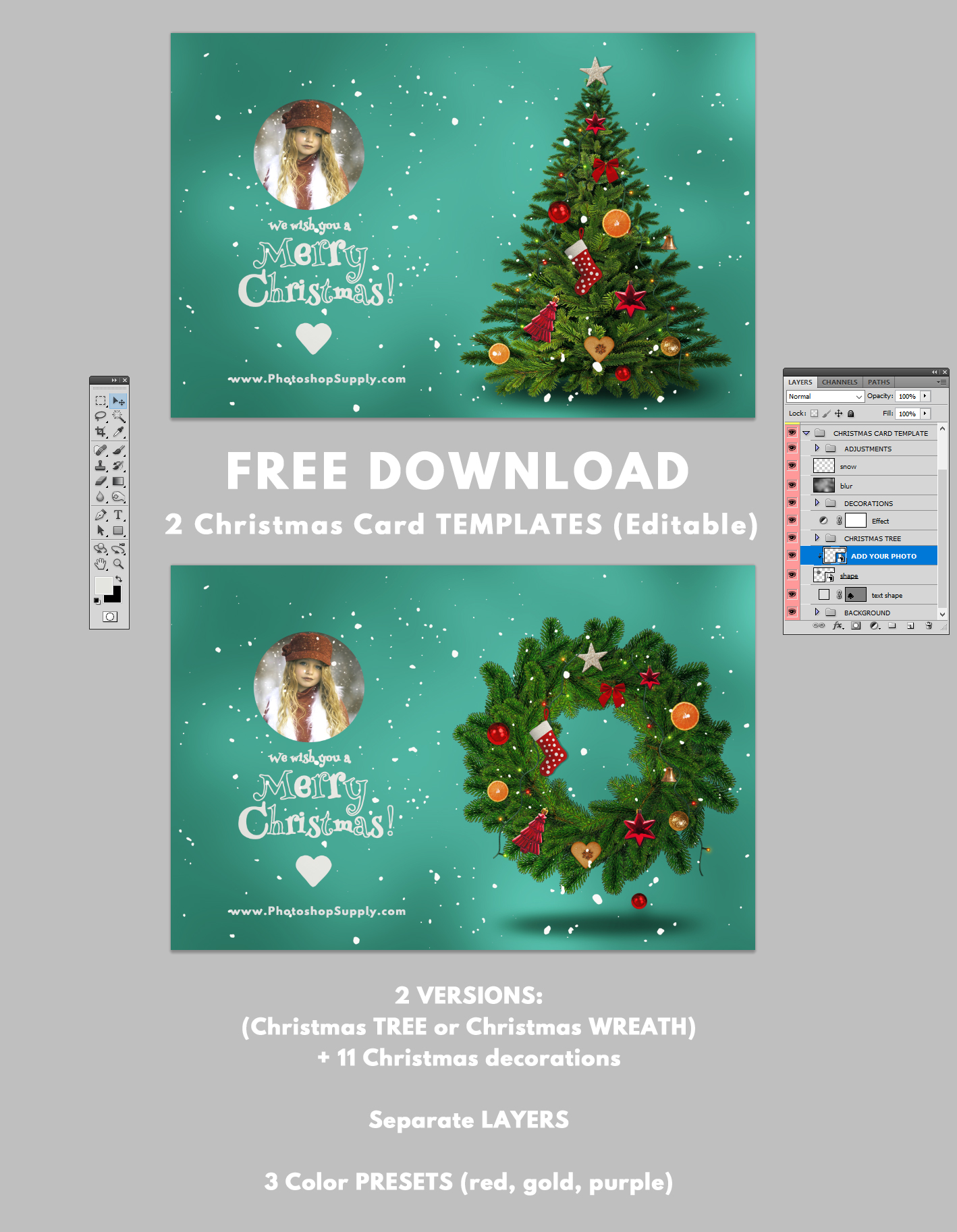 Christmas Card Templates For Shop Shop Supply