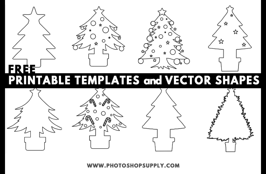 photo regarding Printable Christmas Tree Template referred to as Xmas Tree Template Styles - Photoshop Deliver