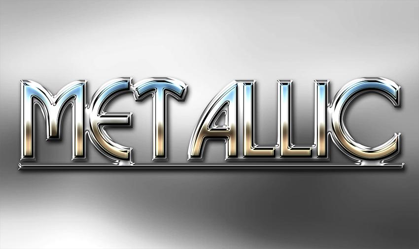 Metal Text Photoshop