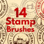 Stamp Photoshop Brushes