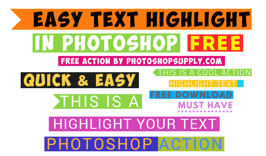 Highlight Text in Photoshop