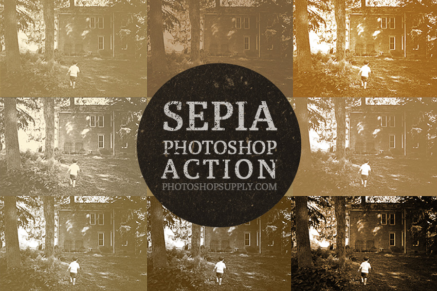 FREE) Sepia Photoshop Filter - Photoshop Supply