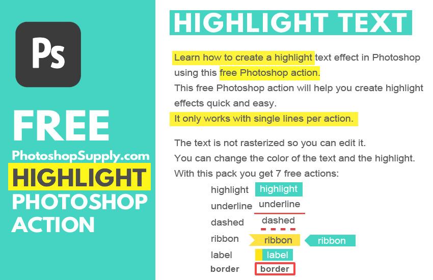 Photoshop Highlight Text Effect