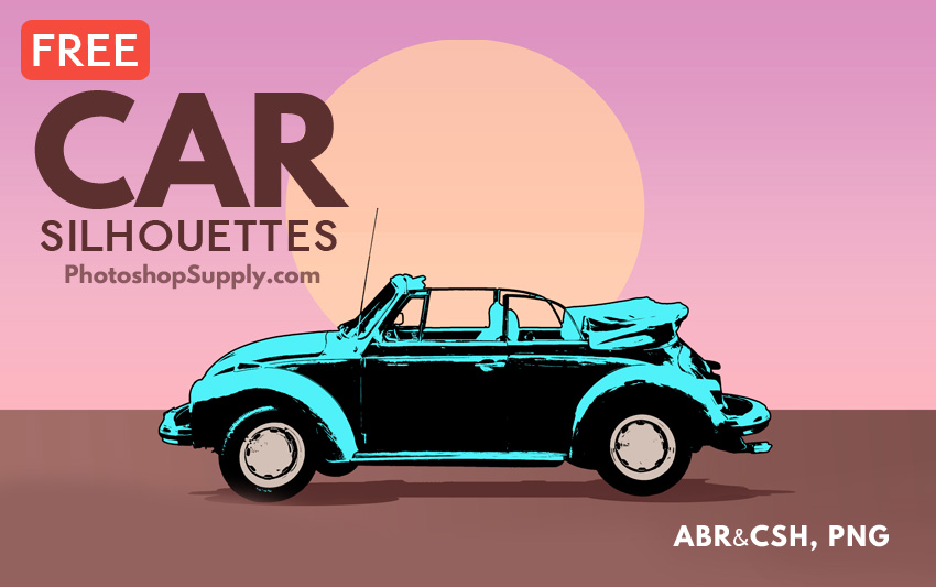 Free Car Silhouette Shapes Brushes Png Photoshop Supply