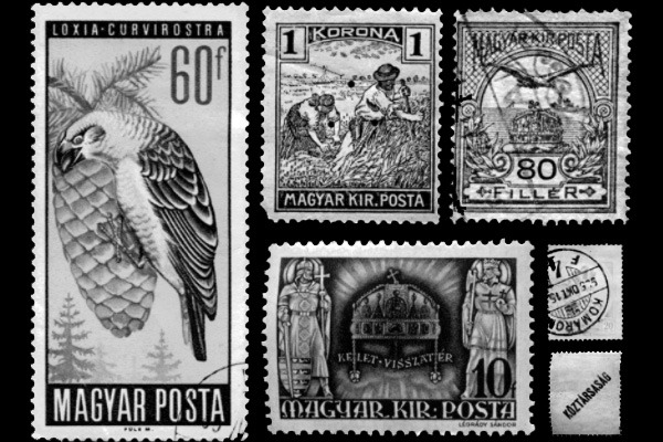 Example of the stamps included in the set