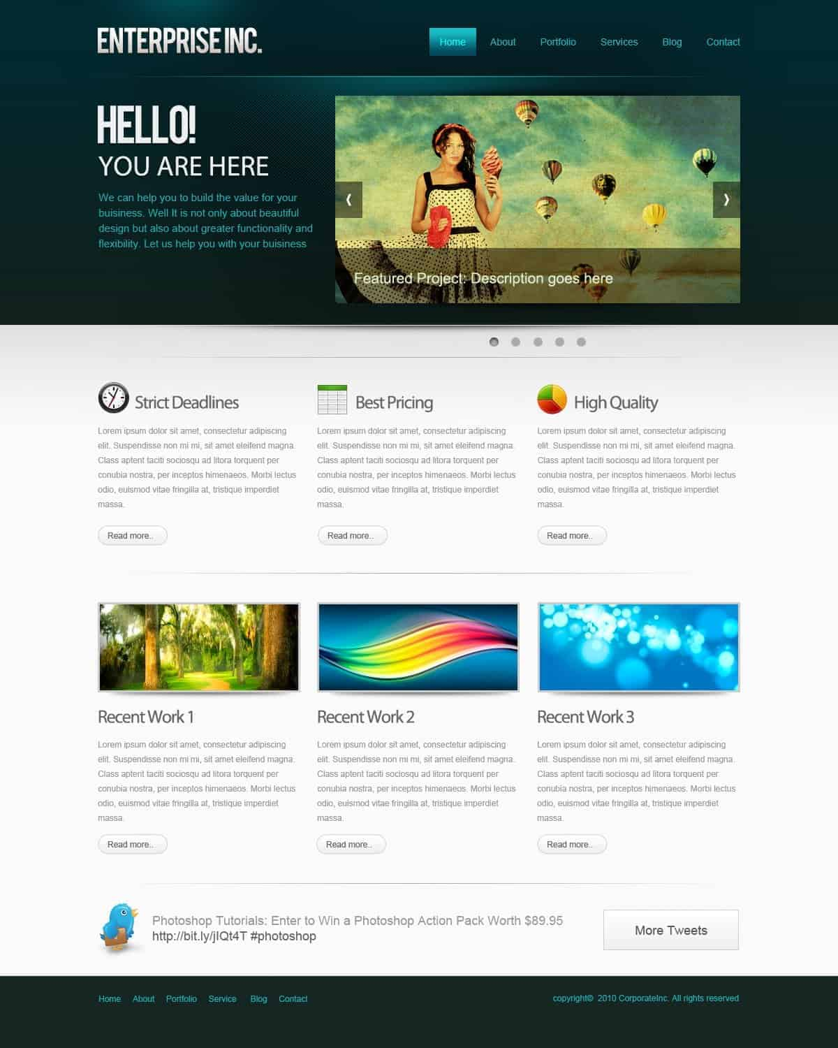 How To Create A Professional Web Layout In Photoshop Photoshop Tutorials