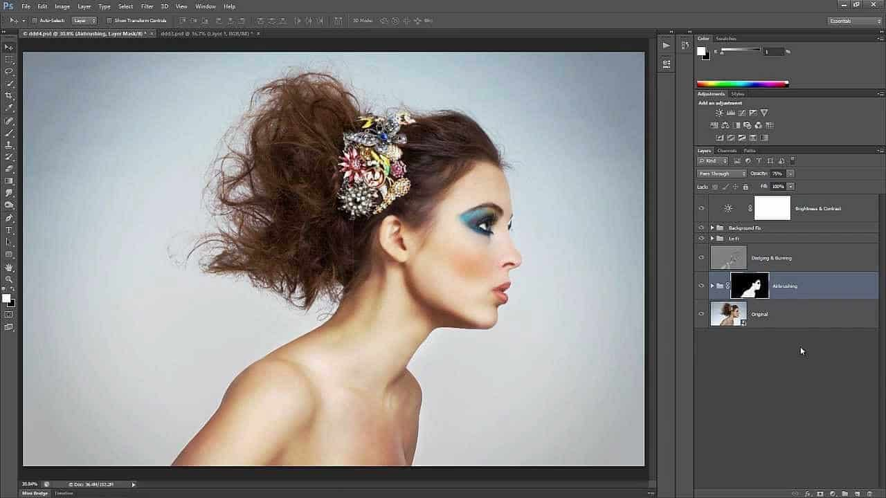 Simple skin smoothing in Photoshop Creative