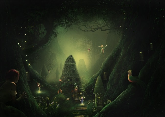 How to Create a Night Jungle Scenery in Photoshop
