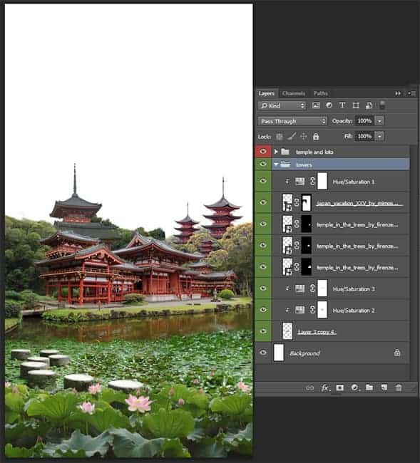 photoshop how to create a3 landscape